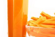 Free Fresh Carrot Juice Isolated Royalty Free Stock Photos - 3552338