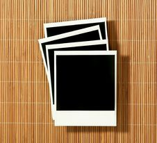 Vintage Crooked Old Polaroid Film Blanks Lying On Stock Image