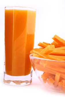 Free Fresh Carrot Juice Isolated Royalty Free Stock Photo - 3552795