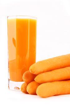 Free Fresh Carrot Juice Isolated Stock Photo - 3552870