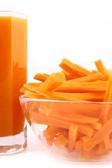 Free Fresh Carrot Juice Isolated Royalty Free Stock Images - 3553019