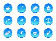 Chemistry Buttons Royalty Free Stock Photo