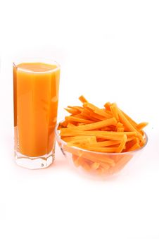 Free Fresh Carrot Juice Isolated Royalty Free Stock Photo - 3553285