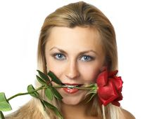 Free Girl With Rose Stock Photos - 3553563