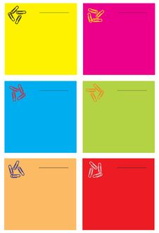 Free Notes In Different Colors Stock Images - 3553814