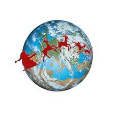 Free Santa Earth Royalty Free Stock Photo - 3554985