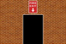 Free Fire Exit Sign Stock Image - 3556021