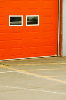 Free Orange Garage Door Stock Photography - 3556422