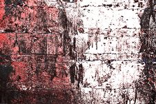 Free Grunge Painted Brick Wall Stock Photo - 3556550