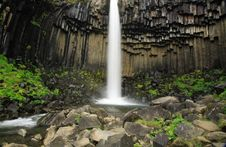 Free Basalt Columns Svartifoss Fall Royalty Free Stock Photos - 3557218