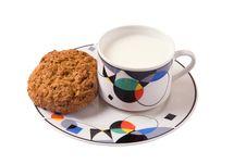 Milk And Cookies Stock Photos