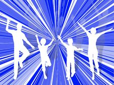 Free Jumping Family Stock Photos - 3557813