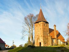 Red Brick Church In Koszalinsk Royalty Free Stock Images