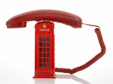 Free Red Telephone Royalty Free Stock Photo - 3558525