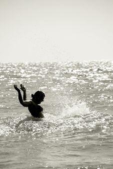 Free Splashing Woman Silhouette Stock Photos - 3559763
