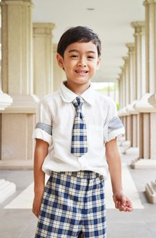 Free Happy Student At School Royalty Free Stock Image - 35501006