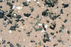 Free Stones On Sand Royalty Free Stock Photo - 35503765