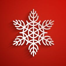 Free Vector Background With Snowflake. Eps10 Royalty Free Stock Photography - 35507187
