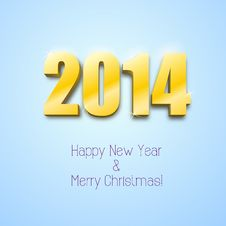 Free New Year 2014 Background Gold Numbers Stock Photography - 35508682
