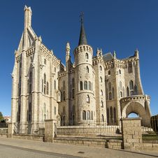 Free Episcopal Palacel Of Astorga, Leon, Spain. Stock Photos - 35509053