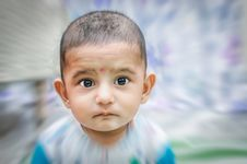 Free Portrait Of Cute Baby Boy Stock Image - 35509511