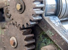 Free Detail Of Old Rusty Gears Stock Photo - 35509520