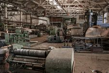 Free Color Old And Abandoned Factory Building Royalty Free Stock Photos - 35509538