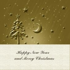Free Christmas Gold Card Stock Images - 35509644