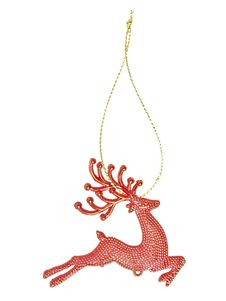 Hanging Red Reindeer Stock Image
