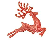 Red Reindeer Christmas Stock Photography