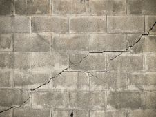 Fracture Brick Wall Royalty Free Stock Photography