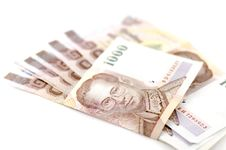 Free Thai Banknote Royalty Free Stock Photography - 35515657
