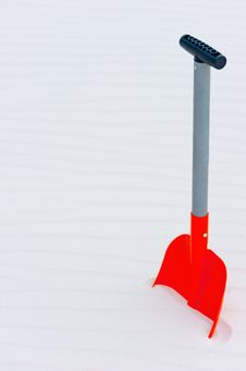 Free Vertical Shot Of An Orange Shovel Royalty Free Stock Photography - 35516987