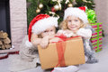 Free Funny Kids In Santa&x27;s Hat Stock Images - 35522164