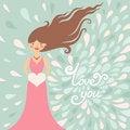 Free Valentine Greeting Card Royalty Free Stock Photos - 35522518