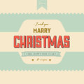 Free Vintage Styled Christmas Card Royalty Free Stock Photos - 35522728
