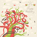 Free Happy Birthday Greeting Card Stock Photography - 35522772