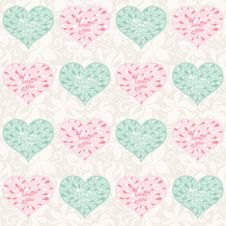 Free Seamless Valentine Pattern Stock Photography - 35522422