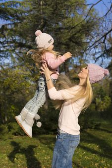 Free Mother And Her Little Girl Having Fun Stock Photography - 35522722