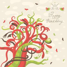 Free Happy Birthday Greeting Card Stock Photography - 35522772