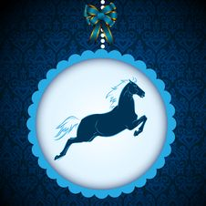 Free Horse Symbol Card Royalty Free Stock Images - 35523099
