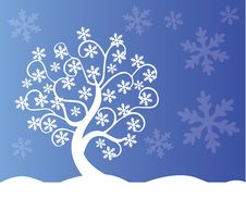 Free Winter Tree Royalty Free Stock Photos - 35529068