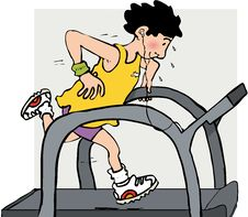 Running Machine Stock Photo
