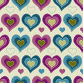 Free Seamless Pattern With Hearts Royalty Free Stock Images - 35531979