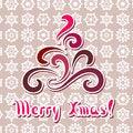 Free Swirly Xmas Tree 1 Stock Photography - 35537932