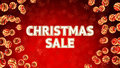 Free Sale On Background With Christmas Ornaments Royalty Free Stock Images - 35539539