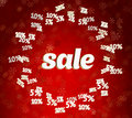 Free Sale On Christmas Background With Discounts Stock Photo - 35539560