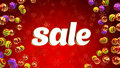 Free Sale On Background With Christmas Ornaments Stock Image - 35539571