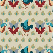 Free Seamless Color Flower Pattern Stock Photography - 35531992
