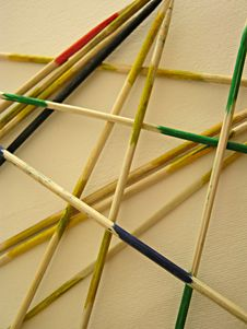 Free Shanghai Pick-up Sticks Game Royalty Free Stock Photos - 35533848